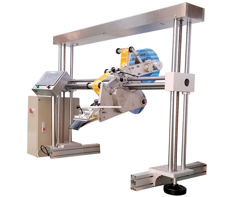 Automatic gantry labeling head