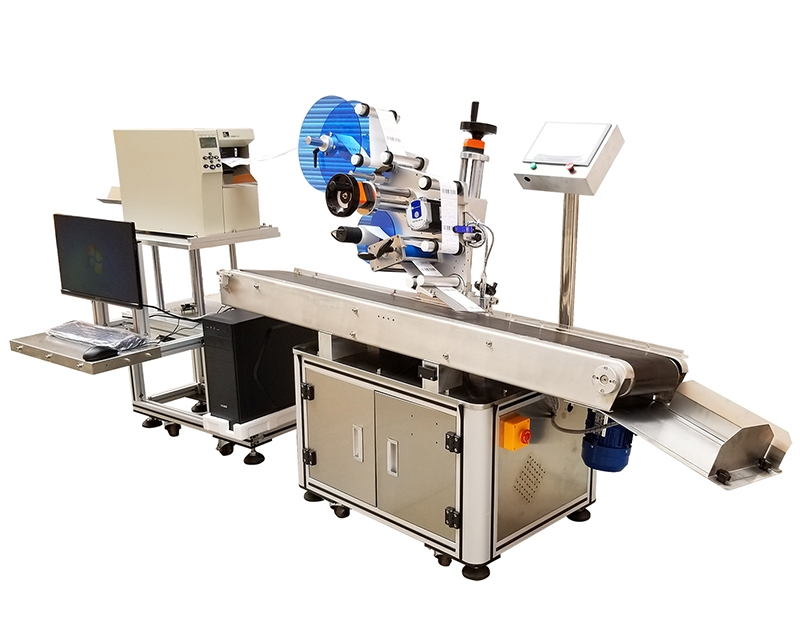 Automatic online printing labeling machine (labeling while printing)